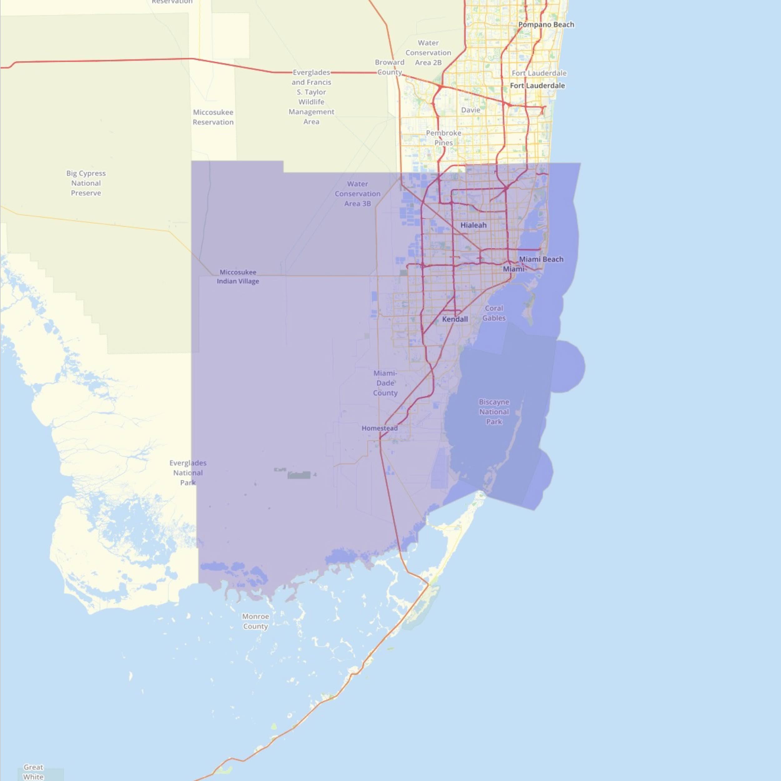 Mobile County Zip Code Map.Adopt A Zip Code Miami Dade